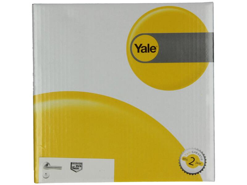 Yale Deal BB deurklinkset op rozet 53mm inox