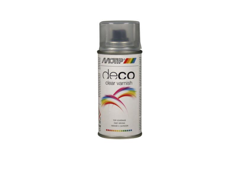 Motip Deco Clear Varnish laque en spray satin 0,15l transparent