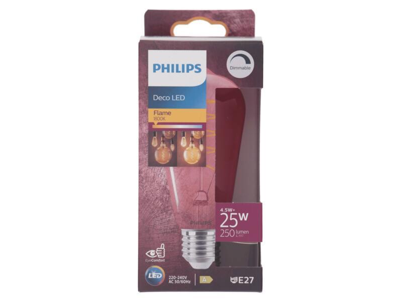 Philips Deco Pink LED Edisonlamp filament E27 4,5W dimbaar