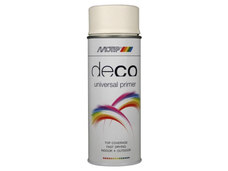 Motip Deco Universal Primer laque en spray brillant 0,4l blanc