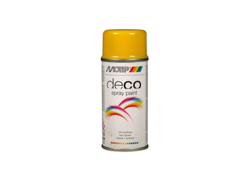 Motip Deco lakspray hoogglans 0,15l koolzaadgeel