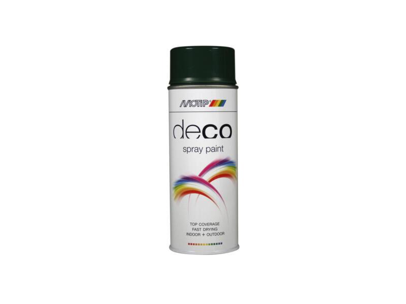 Motip Deco lakspray hoogglans 0,4l donkergroen