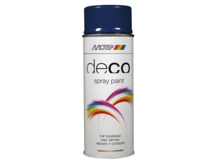 Motip Deco lakspray hoogglans 0,4l enziaanblauw