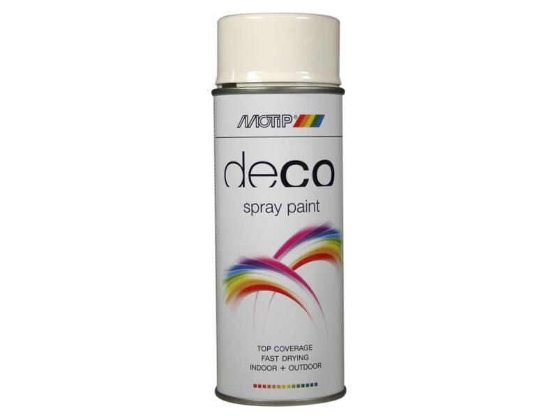 Motip Deco lakspray hoogglans 0,4l helder wit