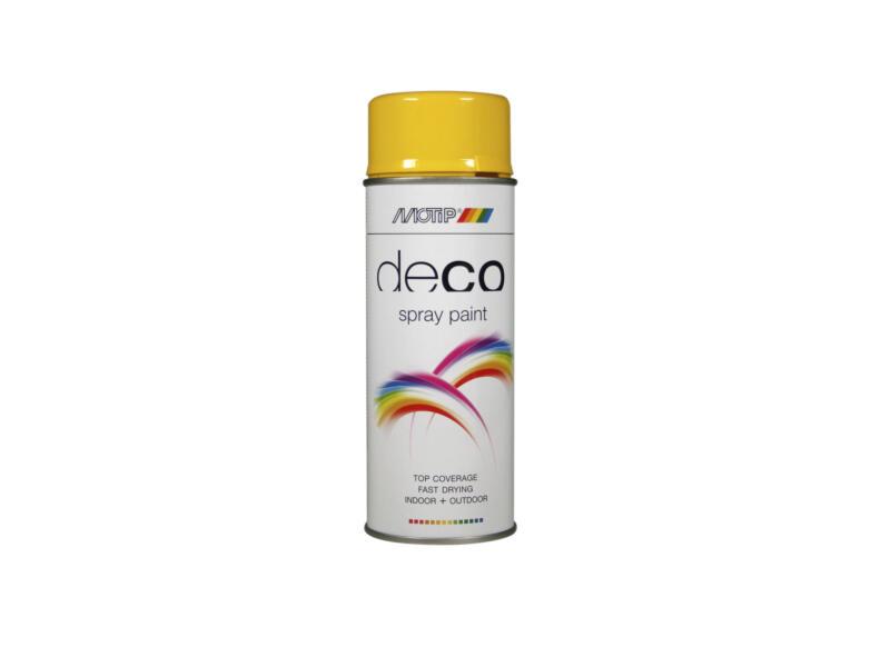 Motip Deco lakspray hoogglans 0,4l koolzaadgeel