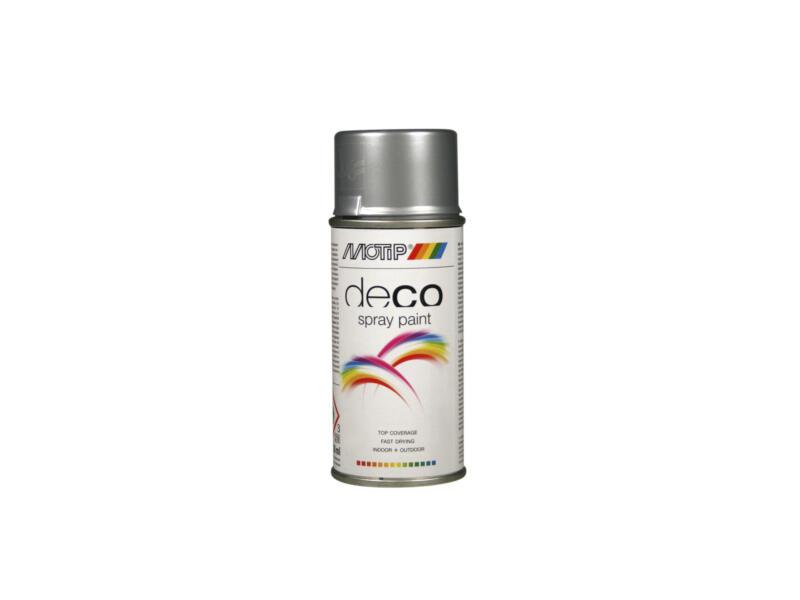 Motip Deco laque en spray brillant 0,15l aluminium blanc
