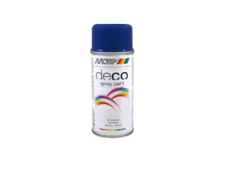 Motip Deco laque en spray brillant 0,15l bleu gentiane