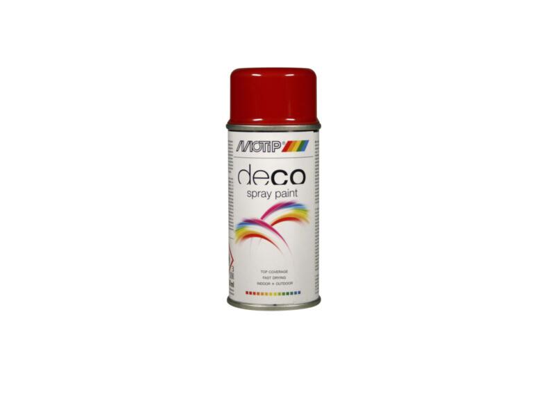 Motip Deco laque en spray brillant 0,15l rouge feu