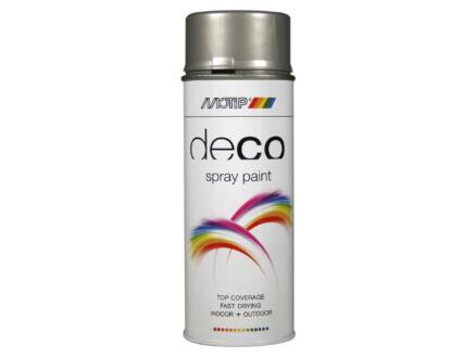 Motip Deco laque en spray brillant 0,4l aluminium blanc