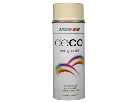 Motip Deco laque en spray brillant 0,4l blanc ivoire