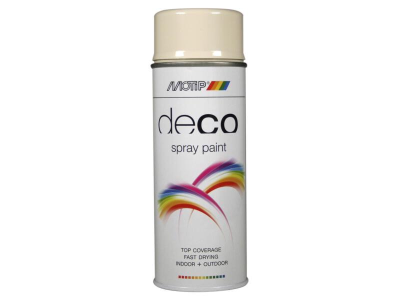 Motip Deco laque en spray brillant 0,4l blanc perlé