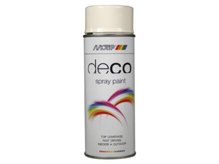 Motip Deco laque en spray brillant 0,4l blanc pur