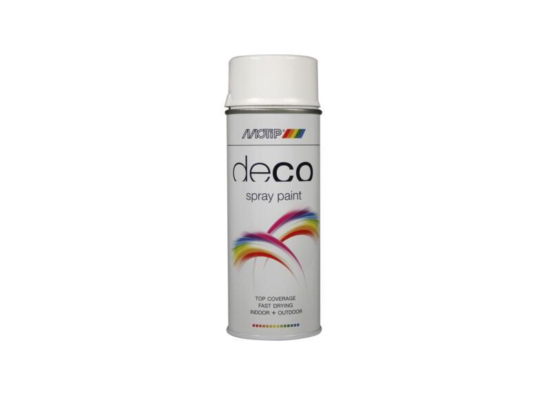 Motip Deco laque en spray brillant 0,4l blanc signalisation