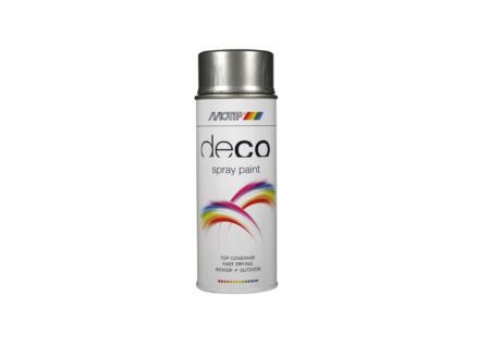 Motip Deco laque en spray brillant 0,4l gris aluminium