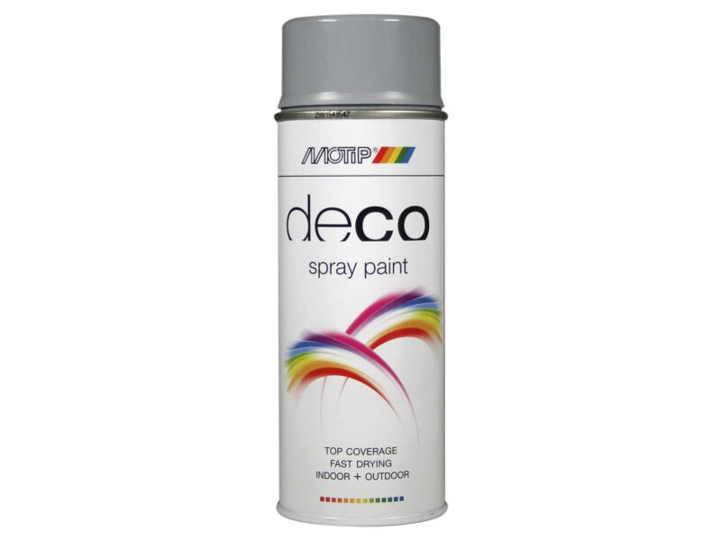 Motip Deco laque en spray brillant 0,4l gris argent