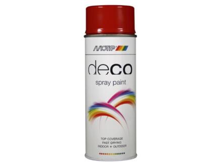 Motip Deco laque en spray brillant 0,4l rouge feu