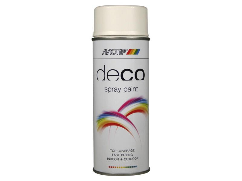 Motip Deco laque en spray paint mat 0,4l blanc pur