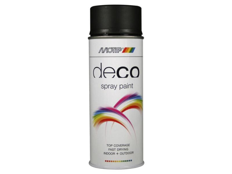 Motip Deco laque en spray paint mat 0,4l noir foncé