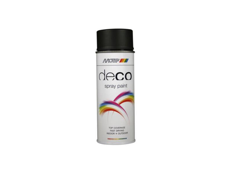 Motip Deco laque en spray paint satin 0,4l noir foncé