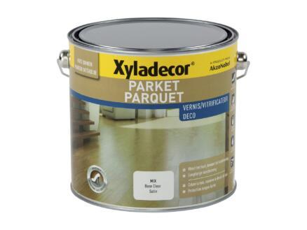 Xyladecor Deco parketvernis sneldrogend zijdeglans 2,475l gekleurd