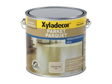 Xyladecor Deco vitrificateur parquet satin 2,5l blanc gris