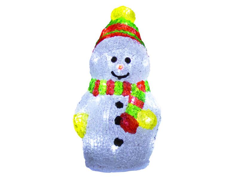 Décoration LED bonhomme de neige lumineux 30cm