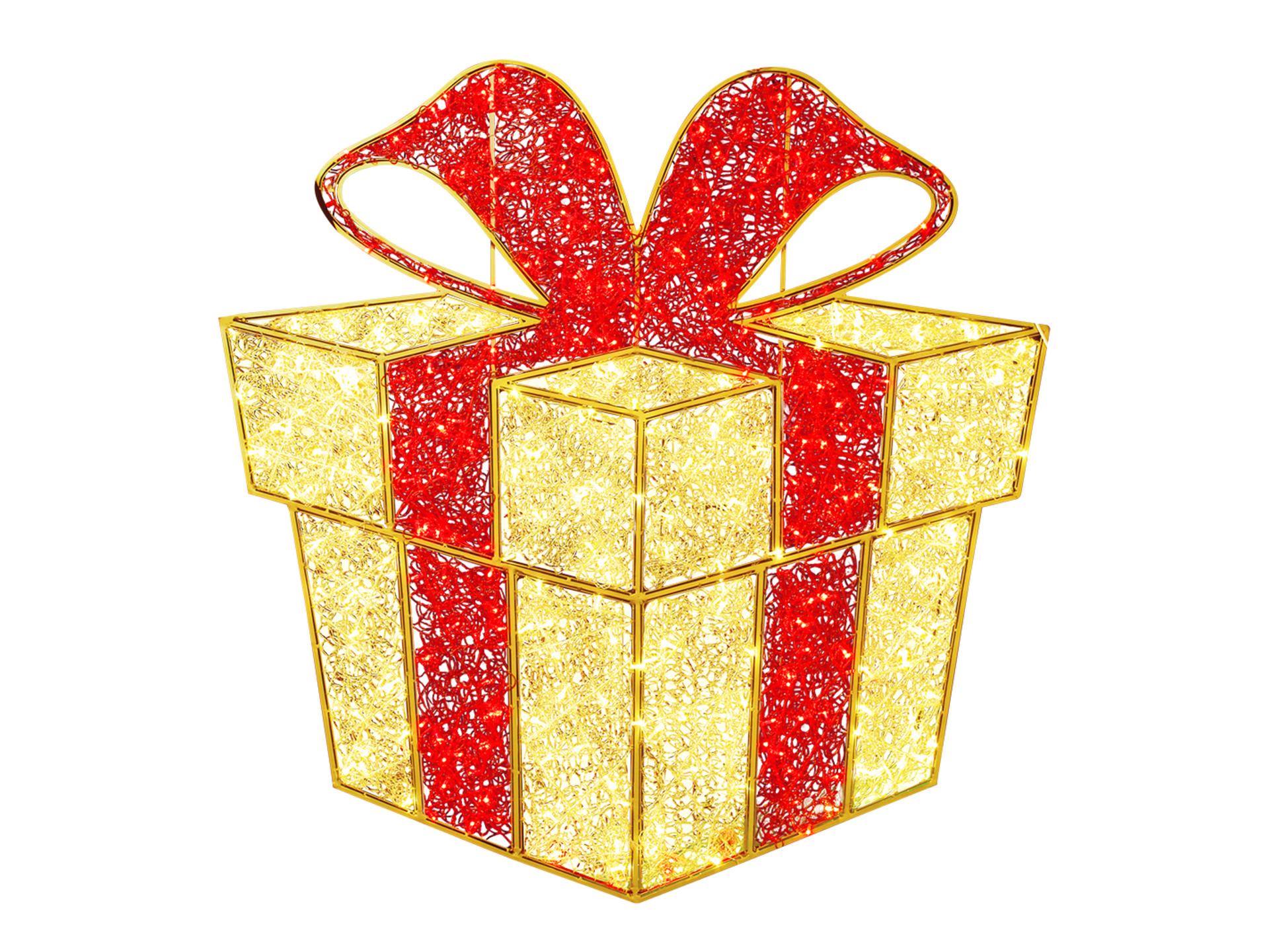 Decoration De Paquets Cadeaux décoration led paquet-cadeau 2d 120cm blanc chaud