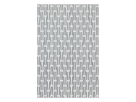 Sun-Arts Deurgordijn 90x210 cm verspringend zilver