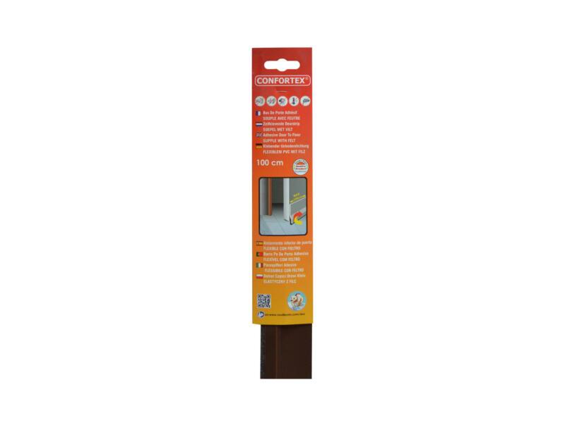 Confortex Deurstrip 98cm 0,5cm bruin