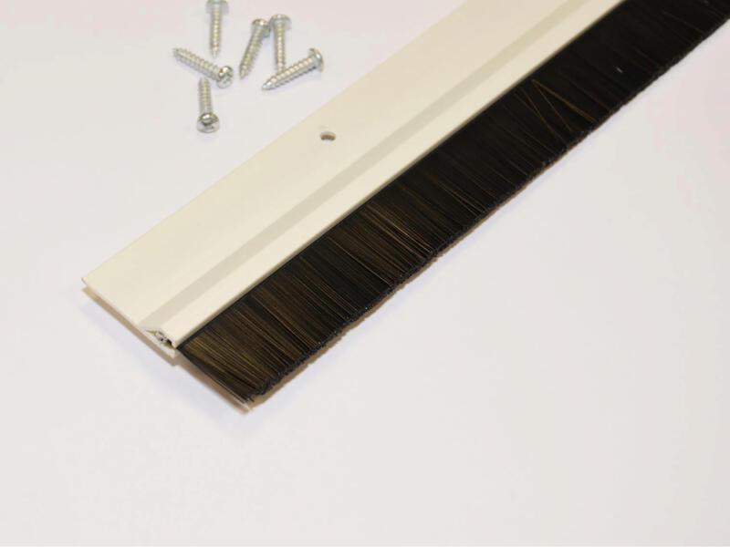 Confortex Deurstrip met borstel 1m 6,5cm wit