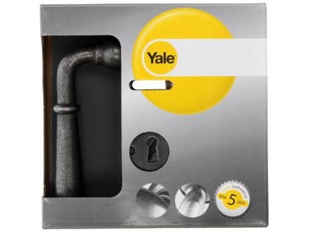 Yale Devon BB poignée de porte set complet acier gris