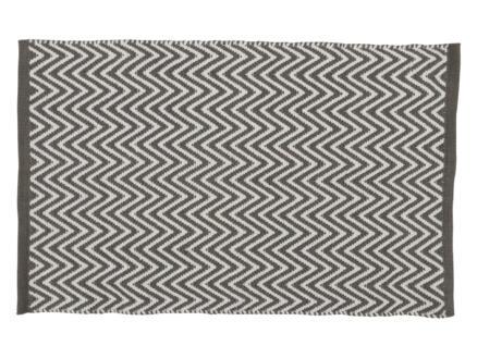 Differnz Devon badmat 80x50 cm wit/grijs