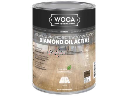 Woca Diamond Oil Active huile parquet 1l chocolate brown