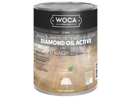 Woca Diamond Oil Active huile parquet 1l extra blanc