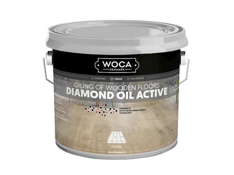 Woca Diamond Oil Active huile parquet 250ml chocolate brown