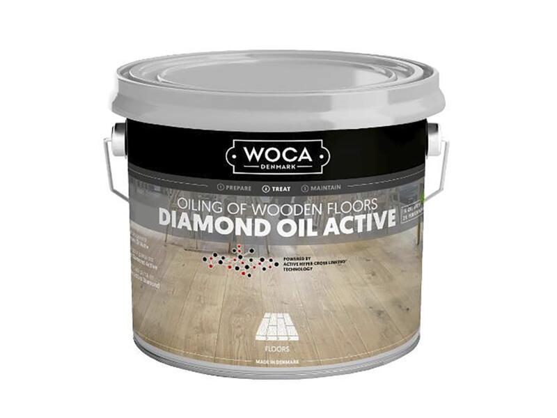 Woca Diamond Oil Active huile parquet 250ml extra blanc