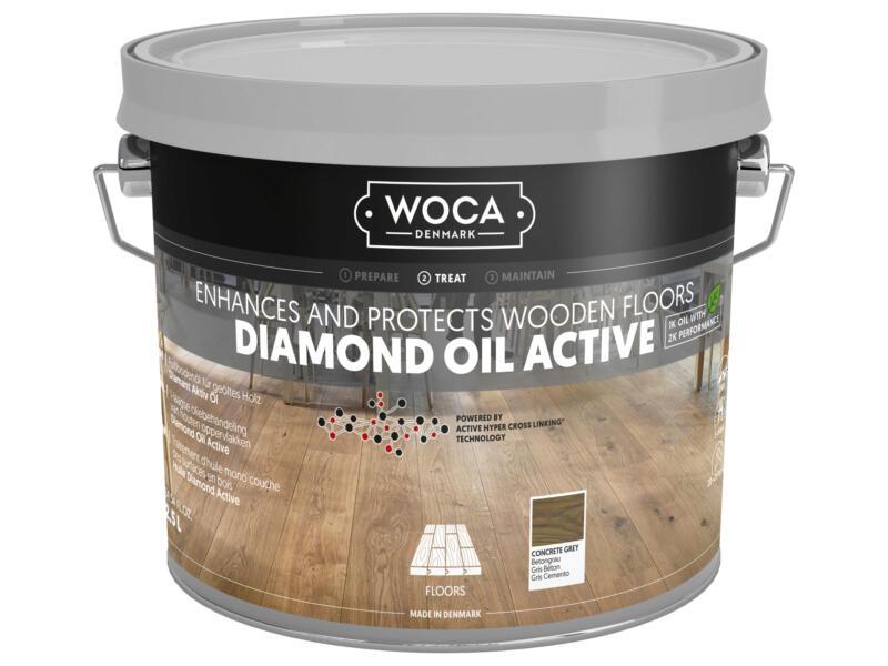 Woca Diamond Oil Active olie hout 250ml concrete grey