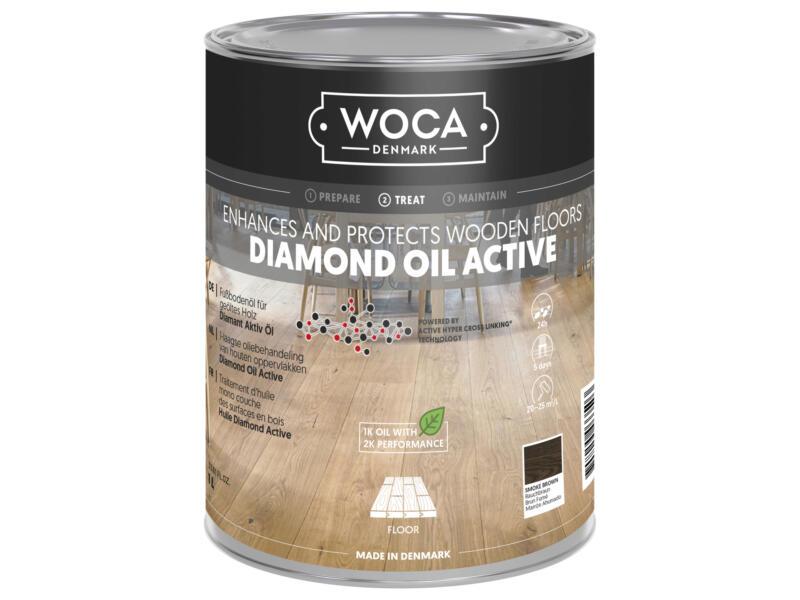 Woca Diamond Oil Active olie hout 250ml smoke brown