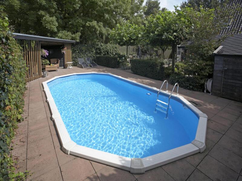 Interline Diana piscine ovale 850x490x132 cm + accessoires