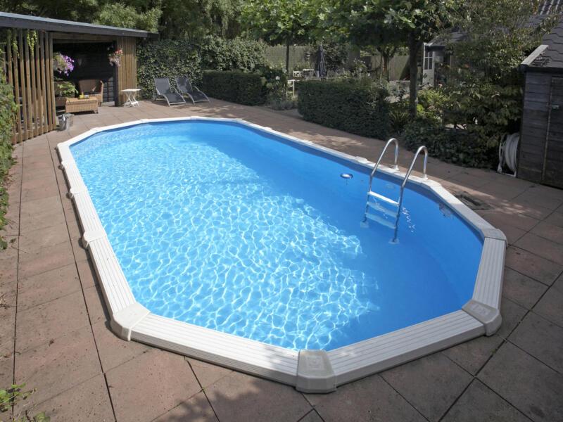 Interline Diana zwembad ovaal 610x360x132 cm + accessoires