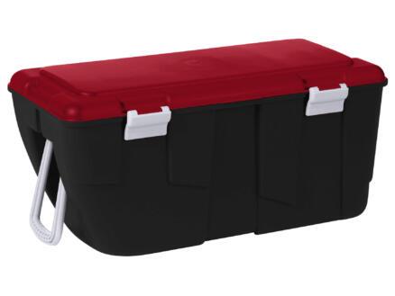 Keter Discover boîte de rangement 80l noir-rouge