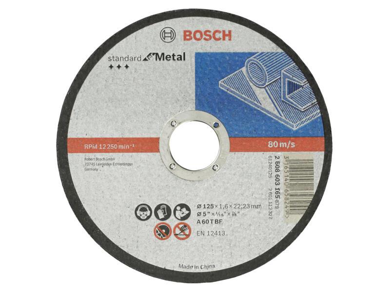 Bosch Professional Disque à tronçonner métal 125x1,6x22,23 mm