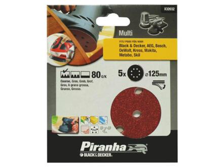 Piranha Disque abrasif excentrique G80 125mm X32032-XJ