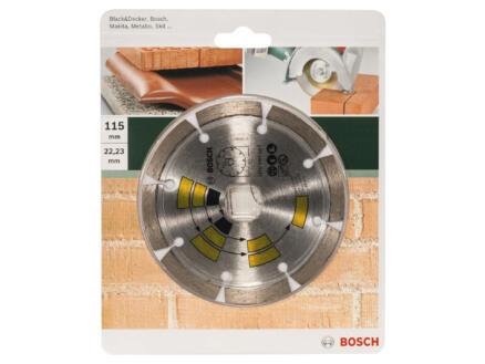 Bosch Disque diamant universel 115x1,7x22,23x7 mm