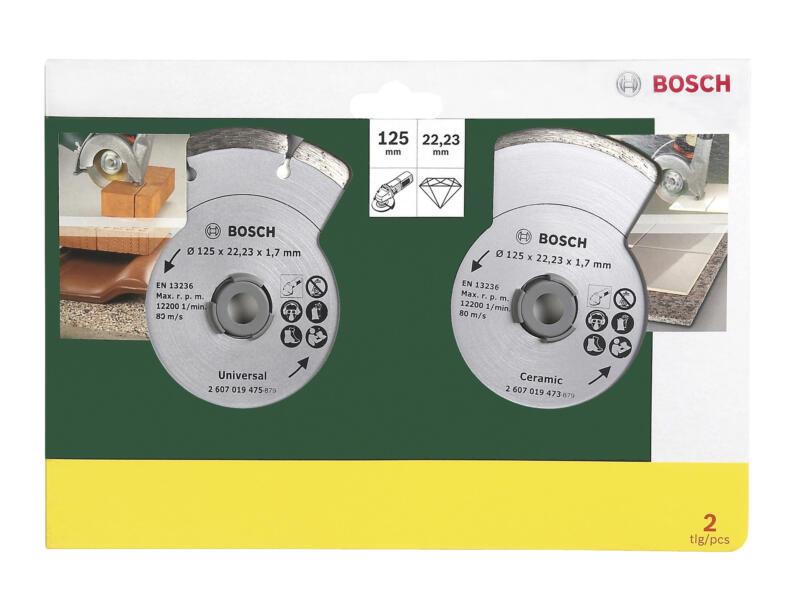 Bosch Disque diamant universel 125x1,7x22,23 mm 2 pièces