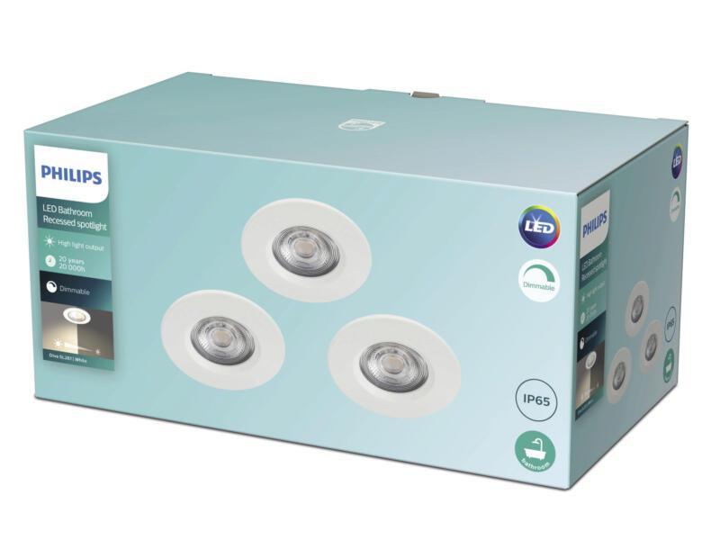 Philips Dive LED inbouwspot 3x5 W dimbaar wit