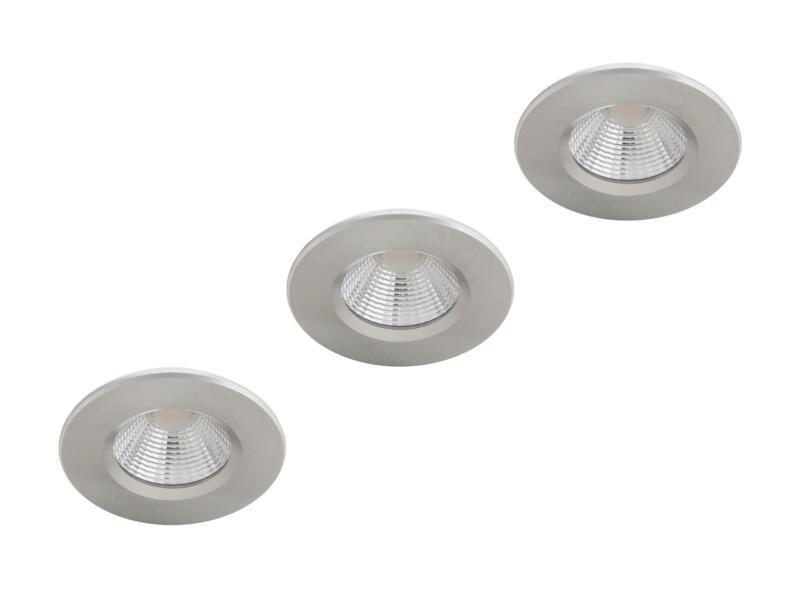 Philips Dive LED inbouwspot reflector 3x5 W dimbaar nikkel grijs
