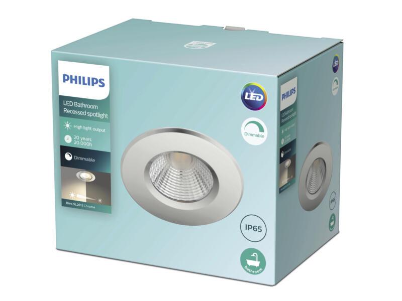 Philips Dive spot LED encastrable réflecteur 5W dimmable chrome