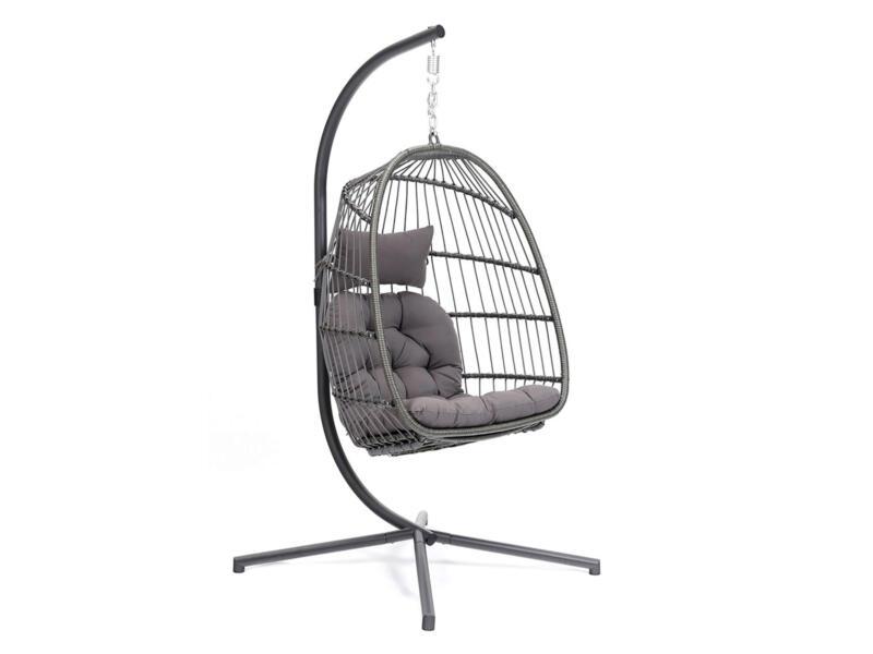 Djerba fauteuil suspendu gris
