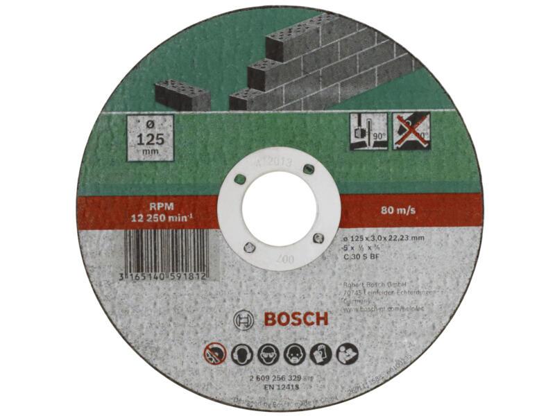 Bosch Doorslijpschijf steen 115x3x22,23 mm recht